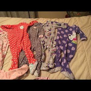 12 month Girl pajama lot